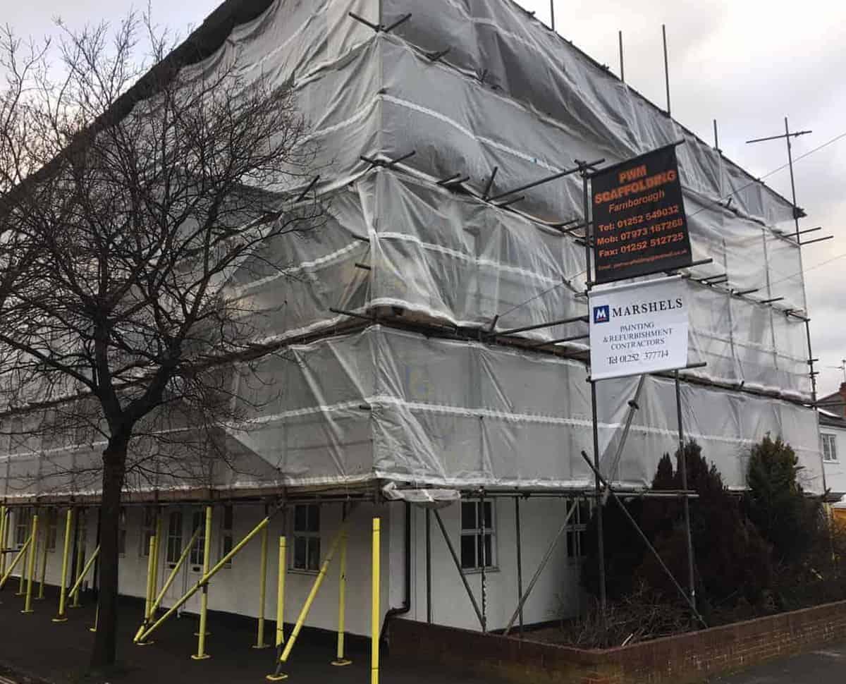 marshels exterior refurbishment
